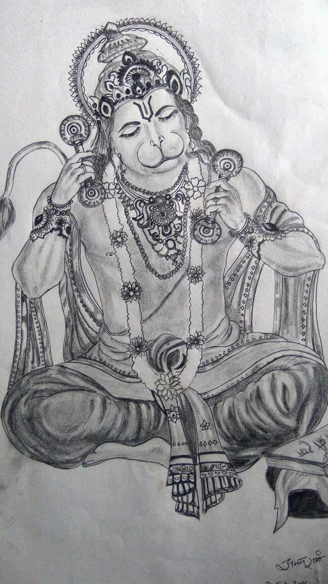Hindu God Hanuman Ji Fine Art