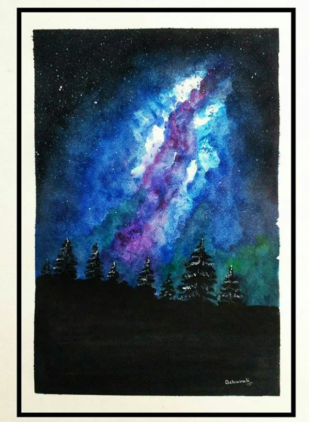 Milky Way Fine art by Debarati C