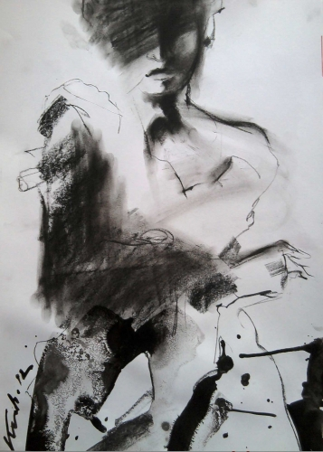 Black White Painting Fine Art