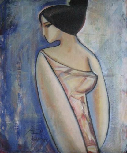 Lady Painting Fine Art by Ekaterina Abramova