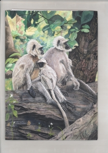 Jungly Mamas Painting Fine Art by  Bhagvati  Nath