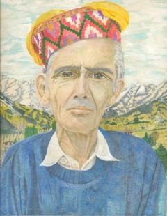 Vashist Man Fine Art by  Bhagvati  Nath
