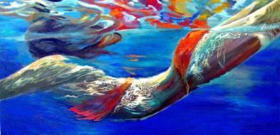 Pool Swimmer  Fine Art