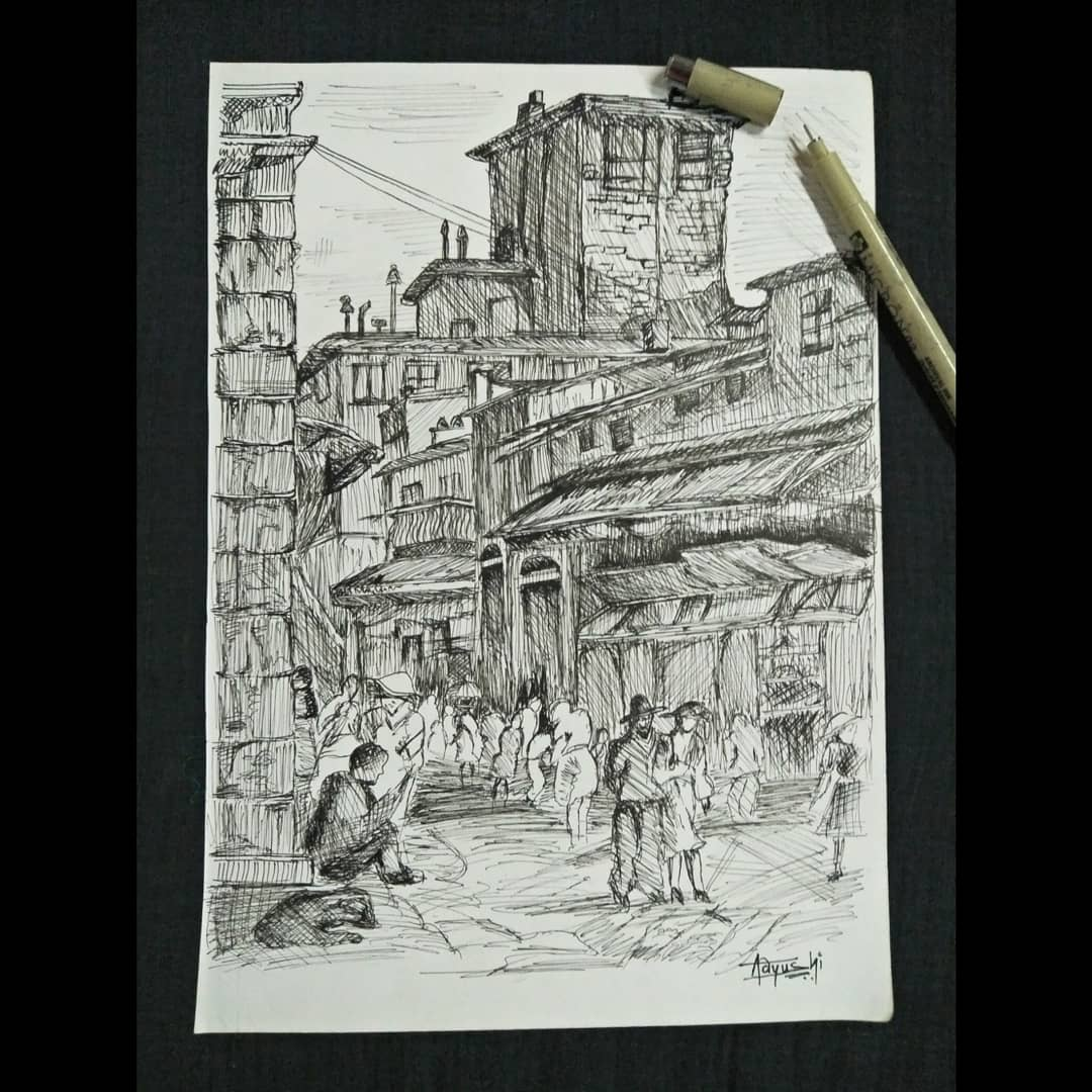 The Street Fine Art by Aayushi Gajjar
