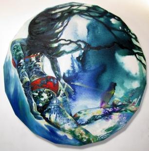 Swimmer in red Fine Art  by Mukta Pusalkar