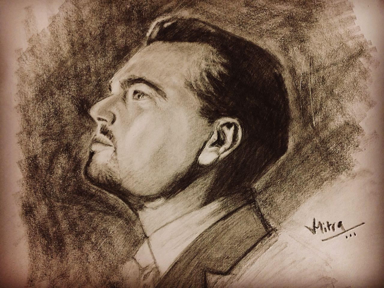Leonardo Dicaprio Charchol  Sketch Fine Art