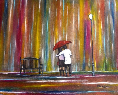 Love In The Rain Landscape FIne Art