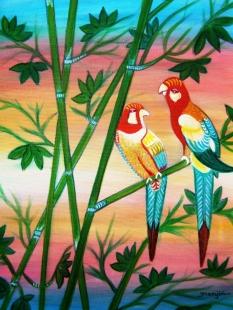 Birds Paradise Landscape Fine Art