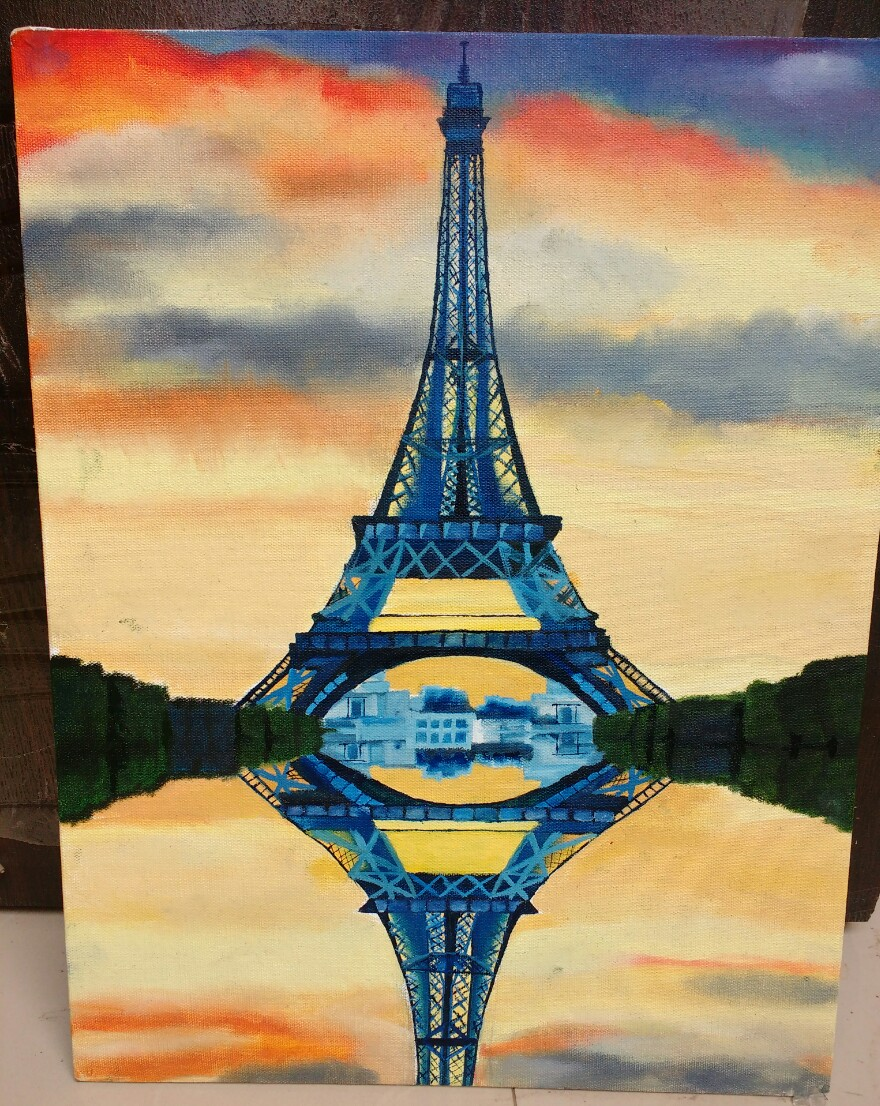 Eiffel Tower Oil Painting    Fine Art by Supriya Bargal