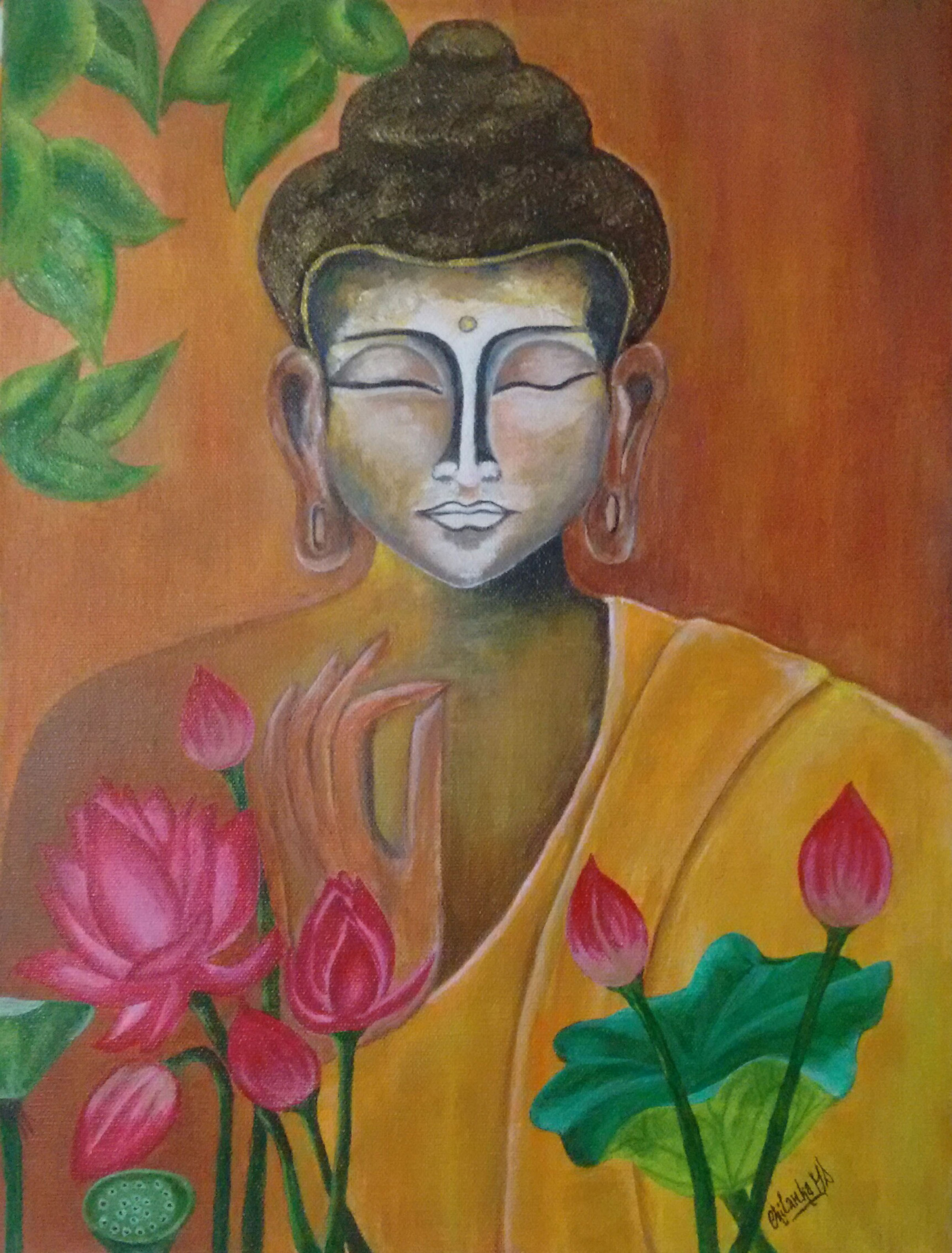 Buddha: Reborn As Enlighted Fine Art by Chilanka Md