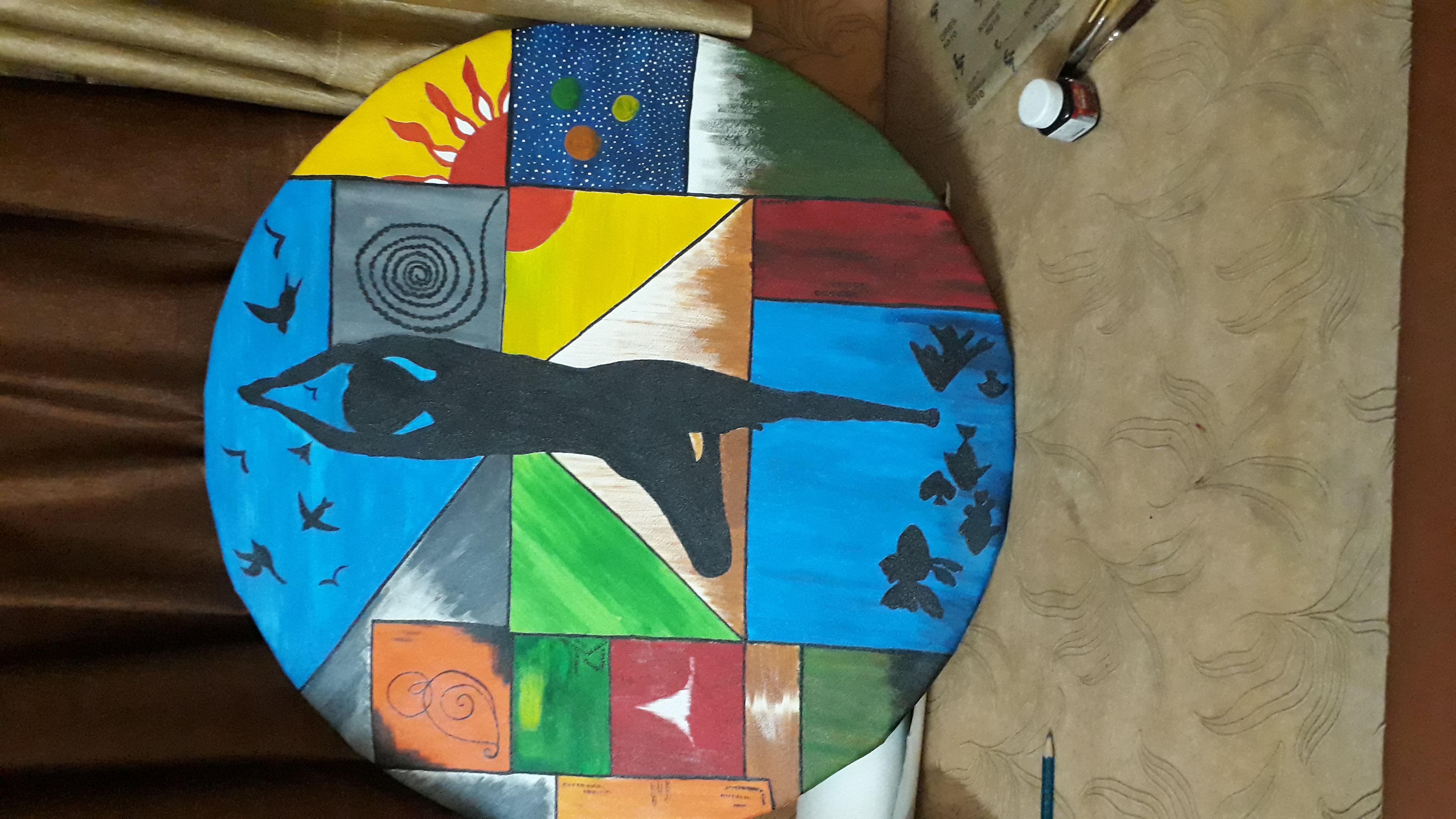 Panchtatva Painting Fine art