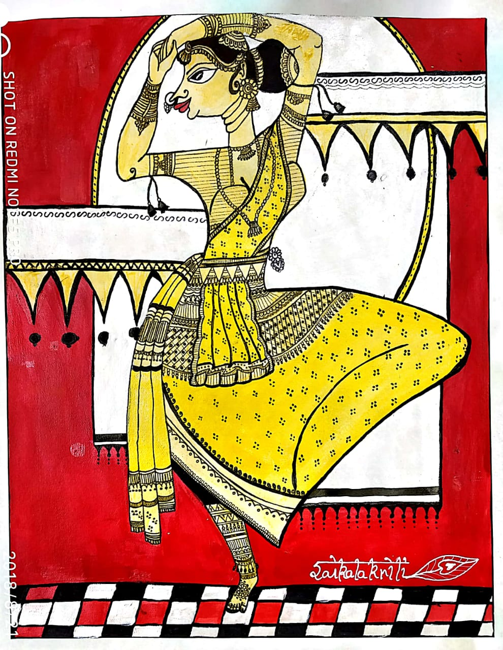 Nartaki Traditional Indian Fine Art by Deepti Rana
