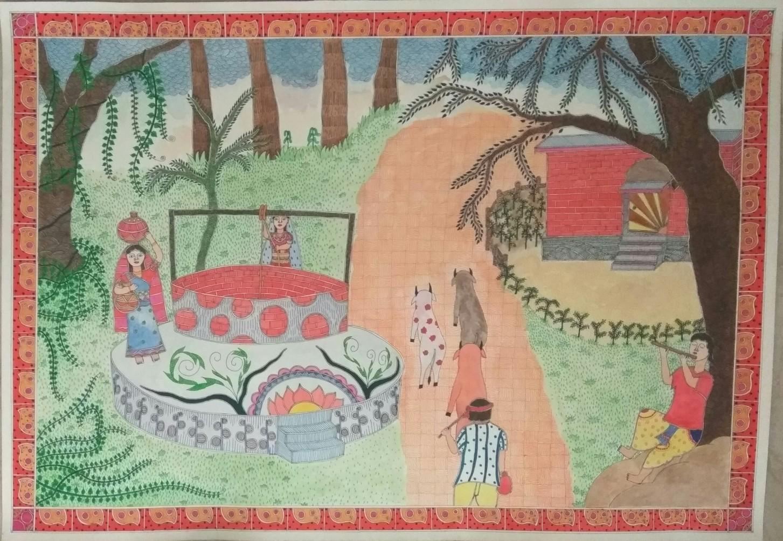 Village Painting Fine Art
