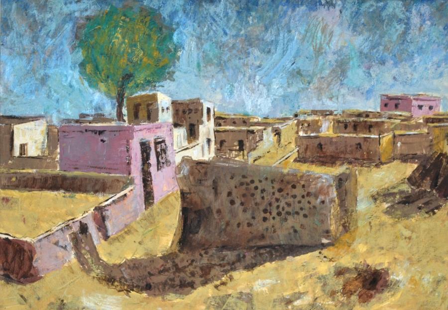 A Village Scene Fine Art