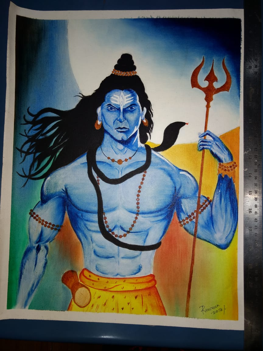 Lord Shiva Painting Fine Art