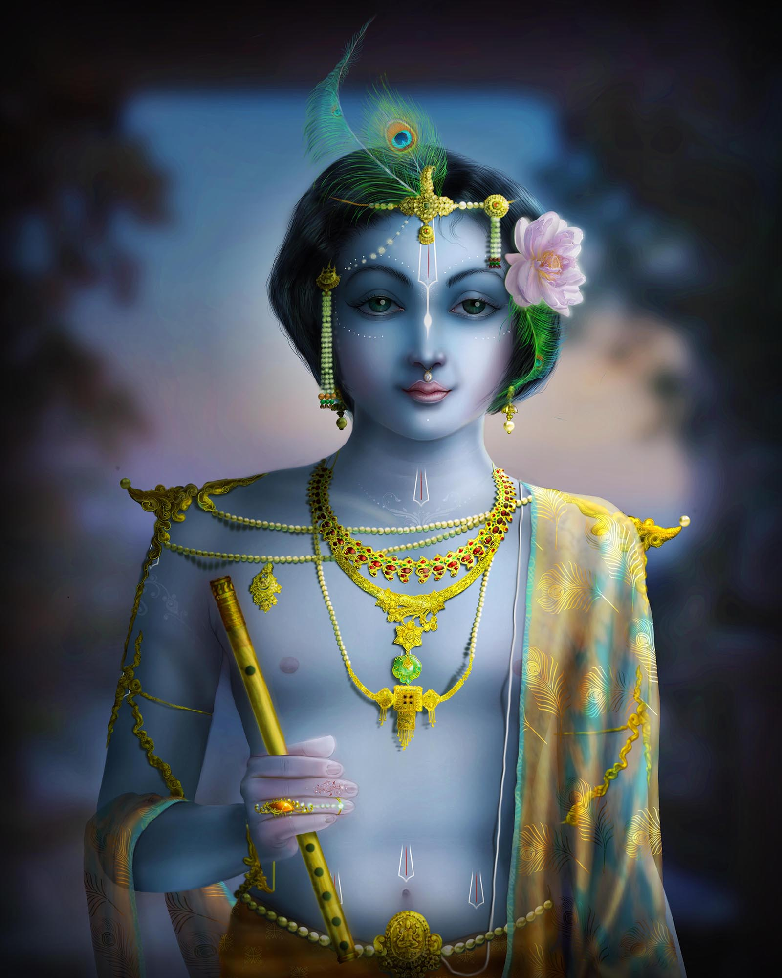 Shri Krishna Digital Art