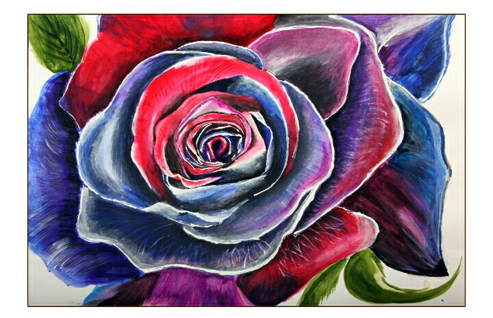 Colourful Rose Painting Fine Art