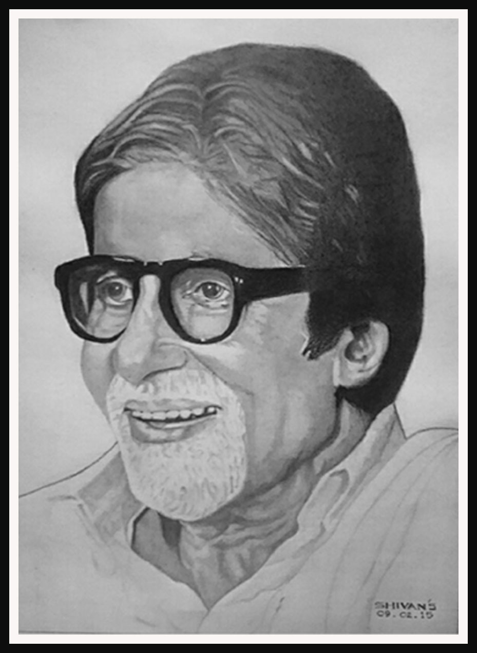BOLLYWOOD SUPER STAR AMITABH BACHCHAN Fine Art