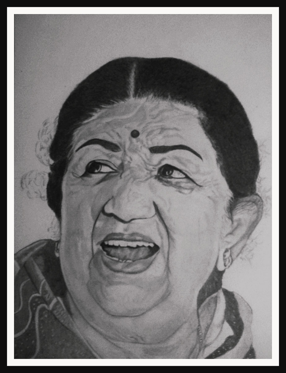 INDIAN SINGER LATA MANGESHKAR Fine Art