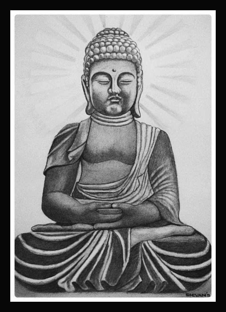 INDIAN SAGE SRI GAUTAM BUDDHA Fine Art