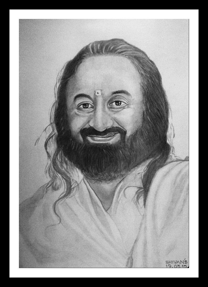 INDIAN SPIRITUAL LEADER SRI SRI RAVI SHANKAR  Fine Art