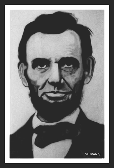 16TH PRESIDENT OF AMERICA ABRAHAM LINCOLN  Fine Art