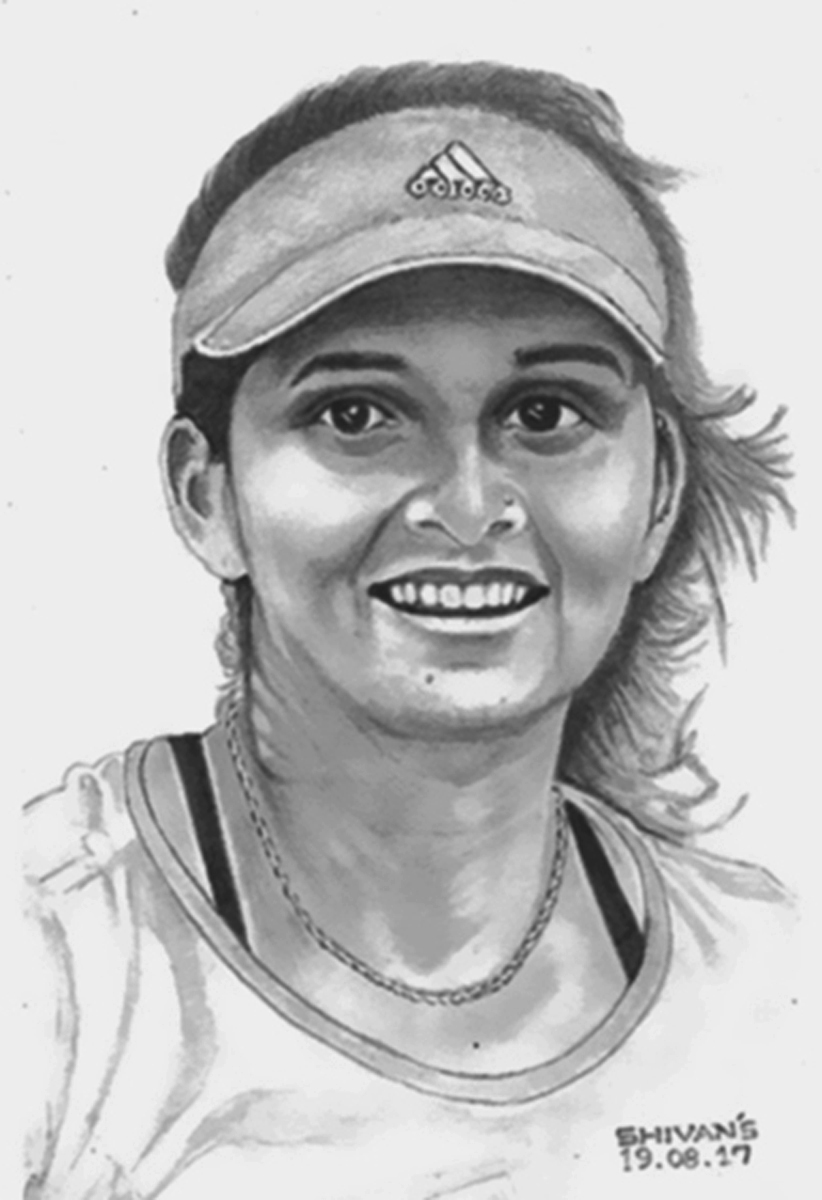 INDIAN PROFESSIONAL TENNIS PLAYER SANIZ MIRZA  Fine Art