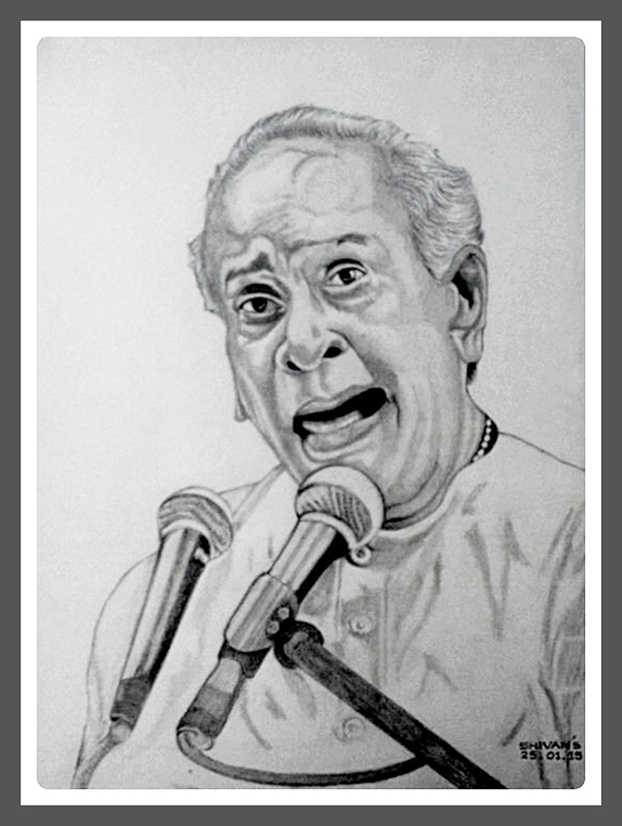 INDIAN VOCALIST PANDIT BHIMSEN JOSHI Fine Art