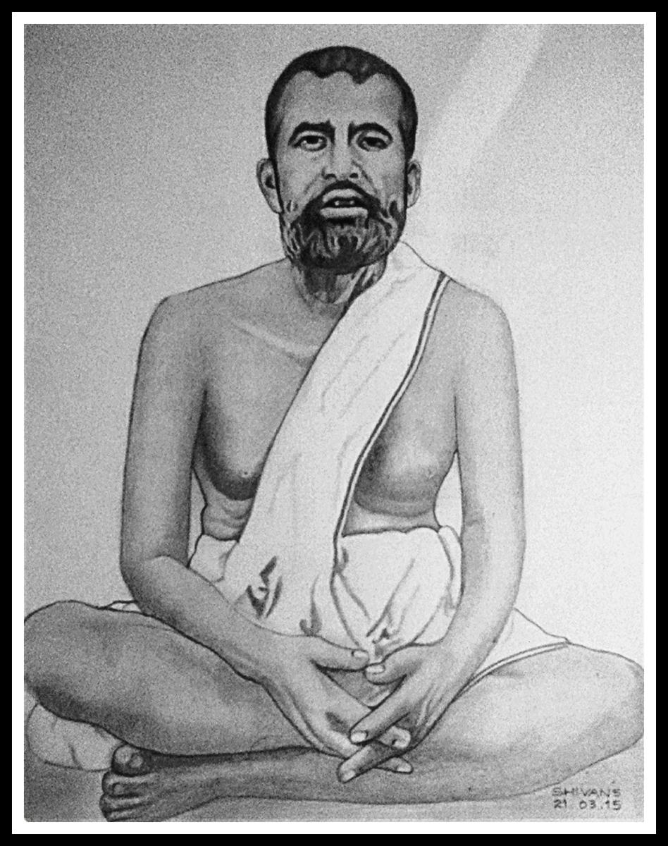 INDIAN SPIRITUAL GURU SRI RAMAKRISHNA PARAMAHANSA  Fine Art
