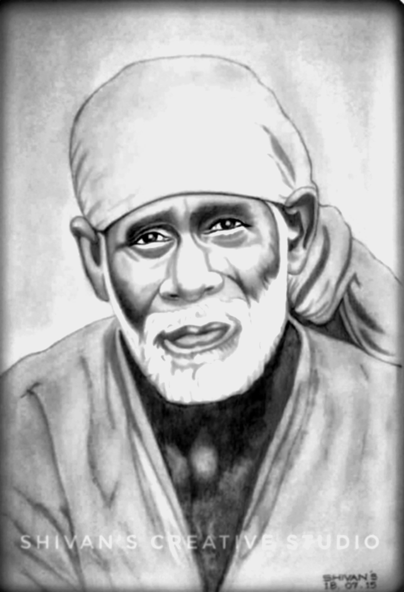 INDIAN SPIRITUAL MASTER SAI BABA Fine Art