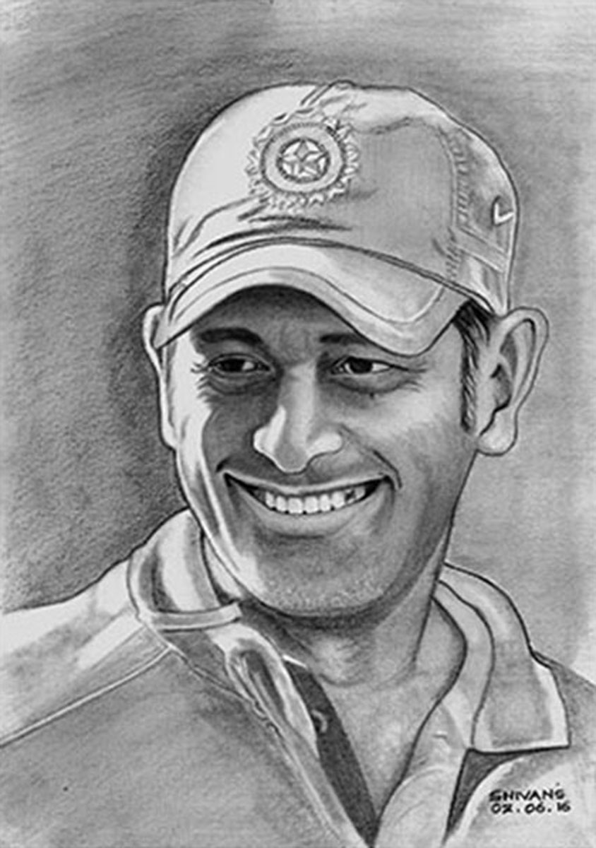 INDIAN CRICKETER M.S. DHONI Fine Art