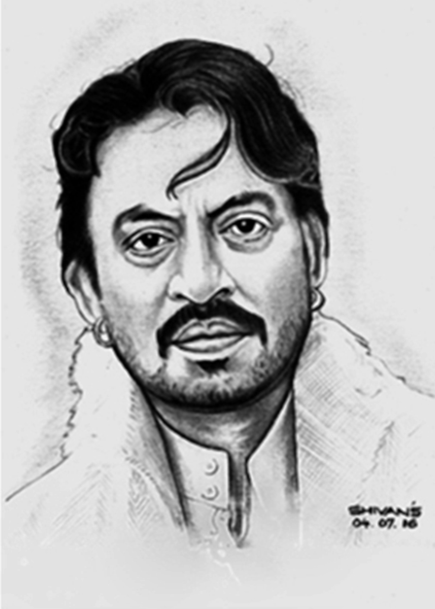 BOLLYWOOD ACTOR IRRFAN KHAN Fine Art by Shivkumar Menon