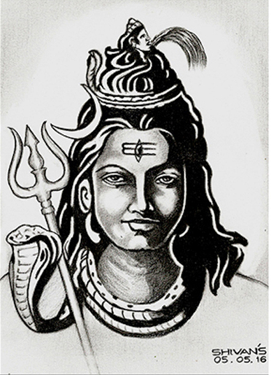 HINDU GOD LORD SHIVA  Fine Art