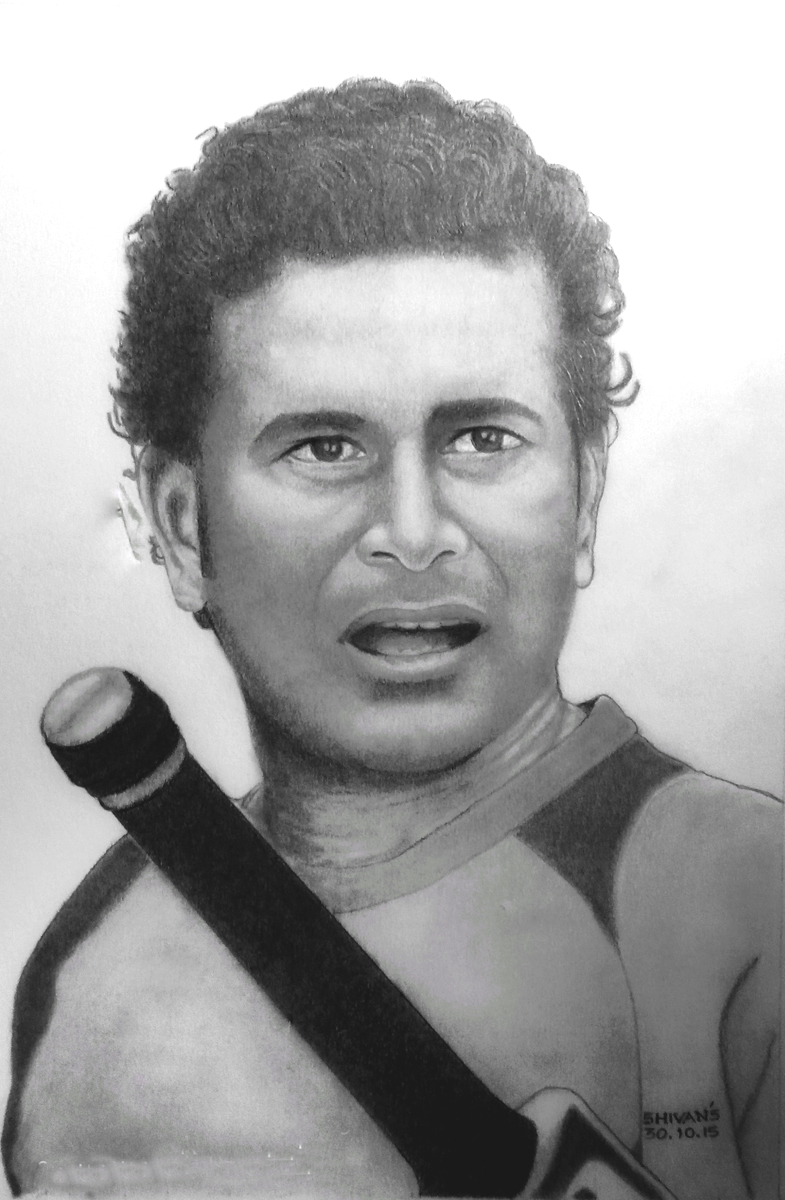 FORMER INDIAN CRICKETER SACHIN TENDULKAR   Fine Art