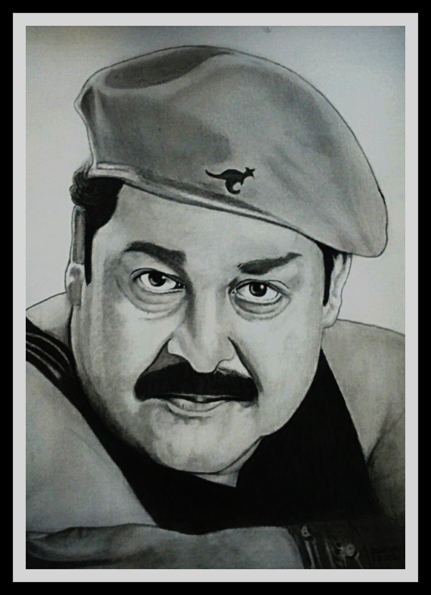 INDIAN ACTOR MOHANLAL  Fine Art