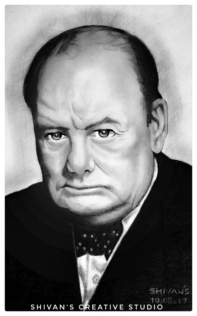 SIR WINSTON CHURCHIL EX-PRIME MINISTER OF UK  Fine Art