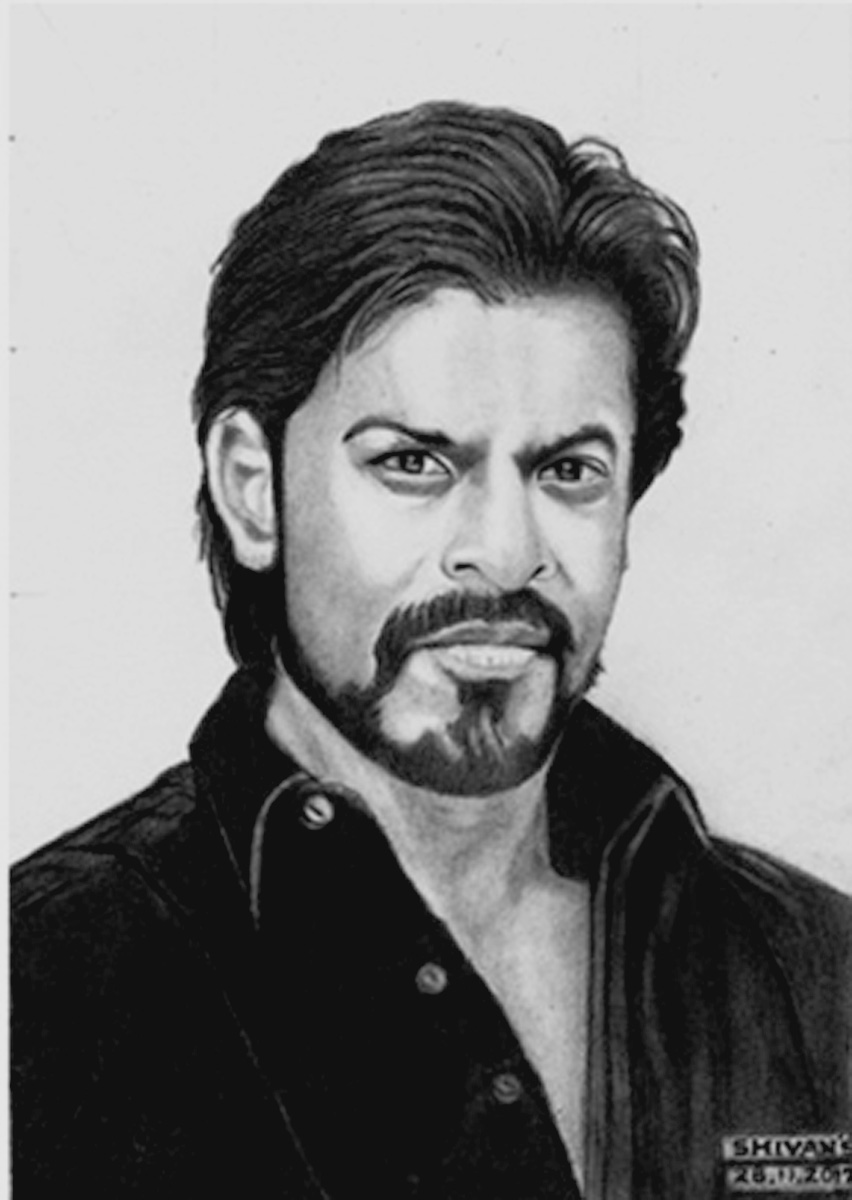 BOLLYWOOD SUPER STAR SHAH RUKH KHAN Fine Art