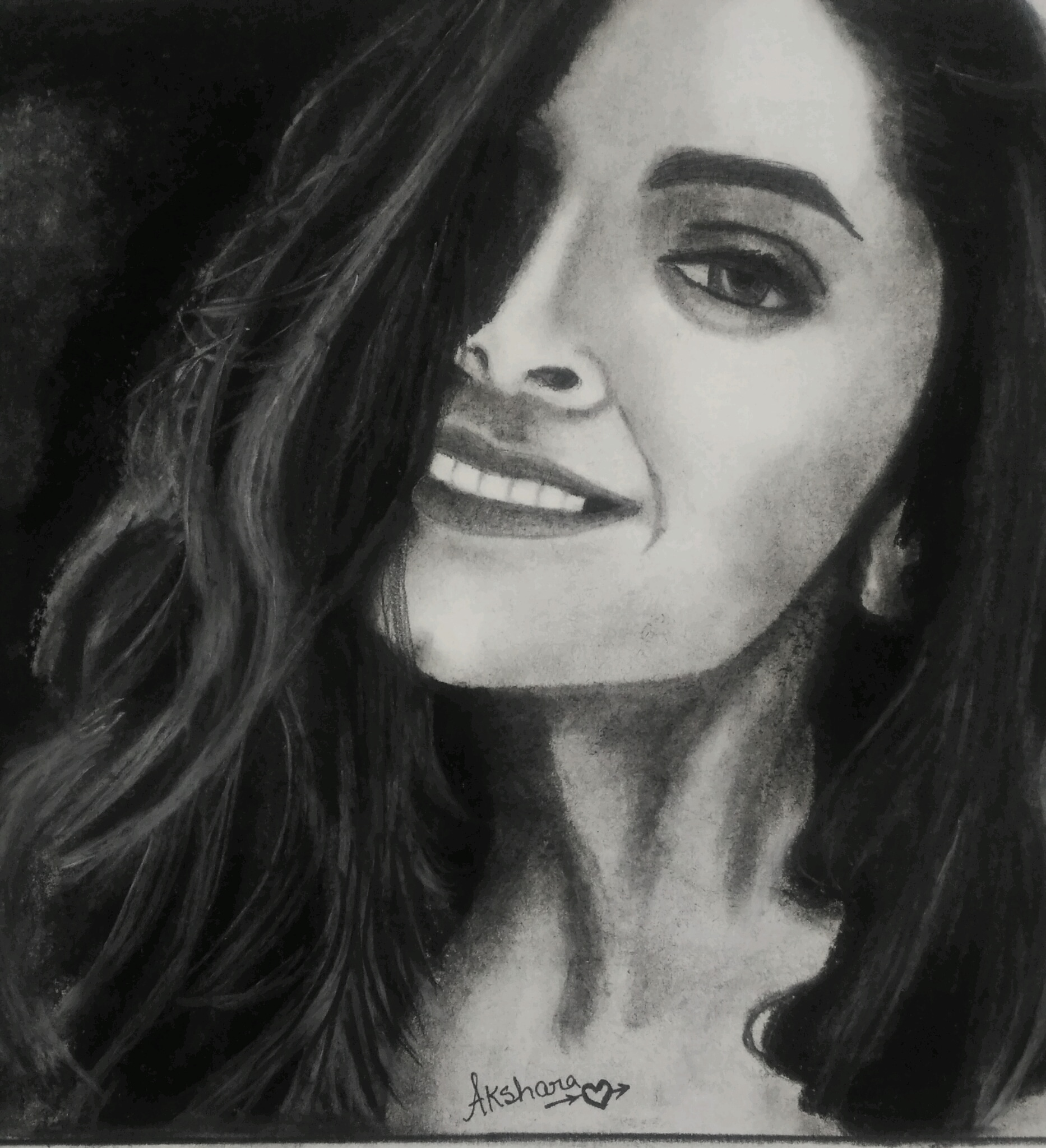 Potrait Of Deepika Padukone   Fine Art