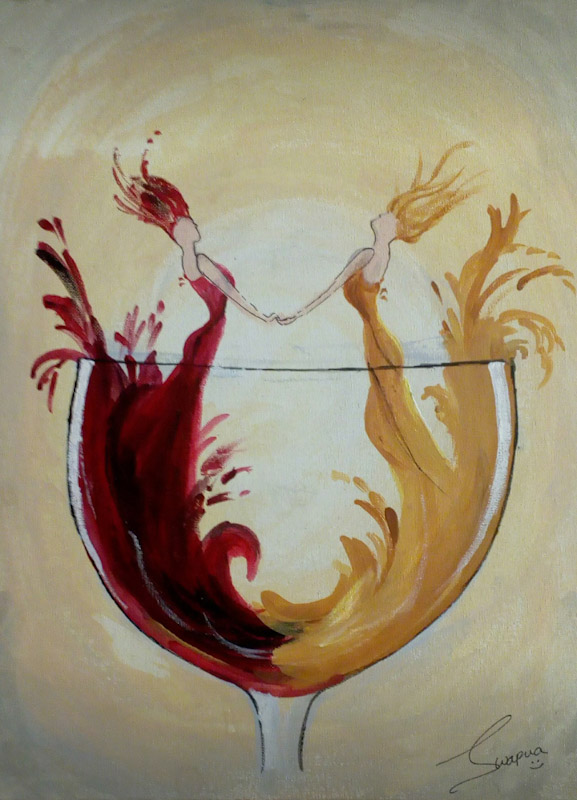 Wine And Relationship Fine Art
