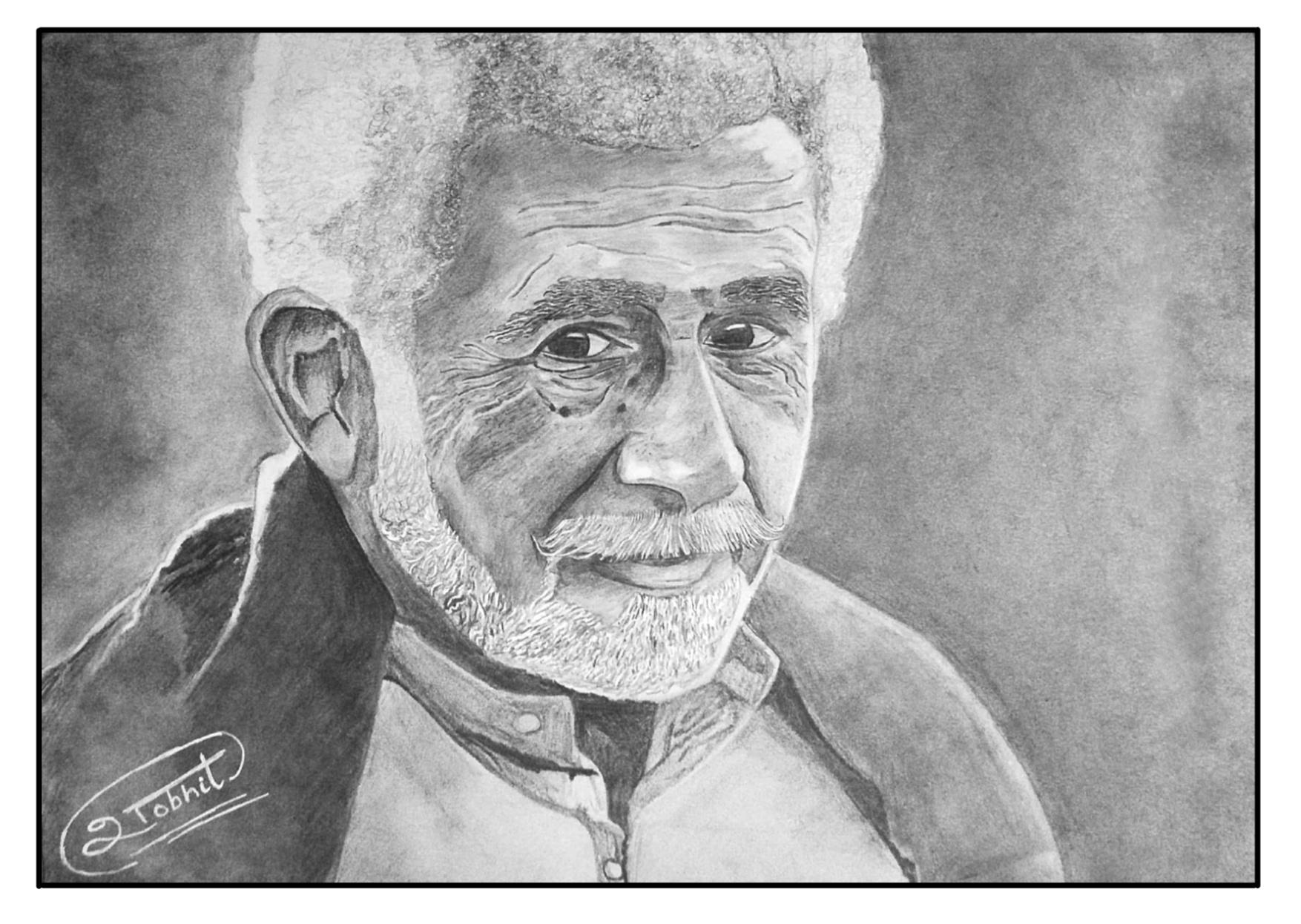 Naseeruddin shah sketch