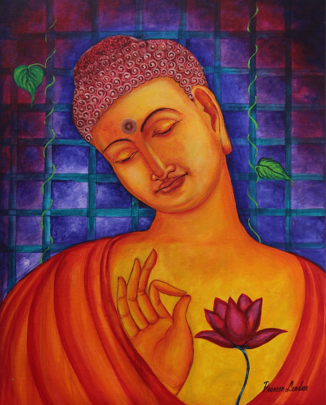 Blessing Buddha Painting Fine Art