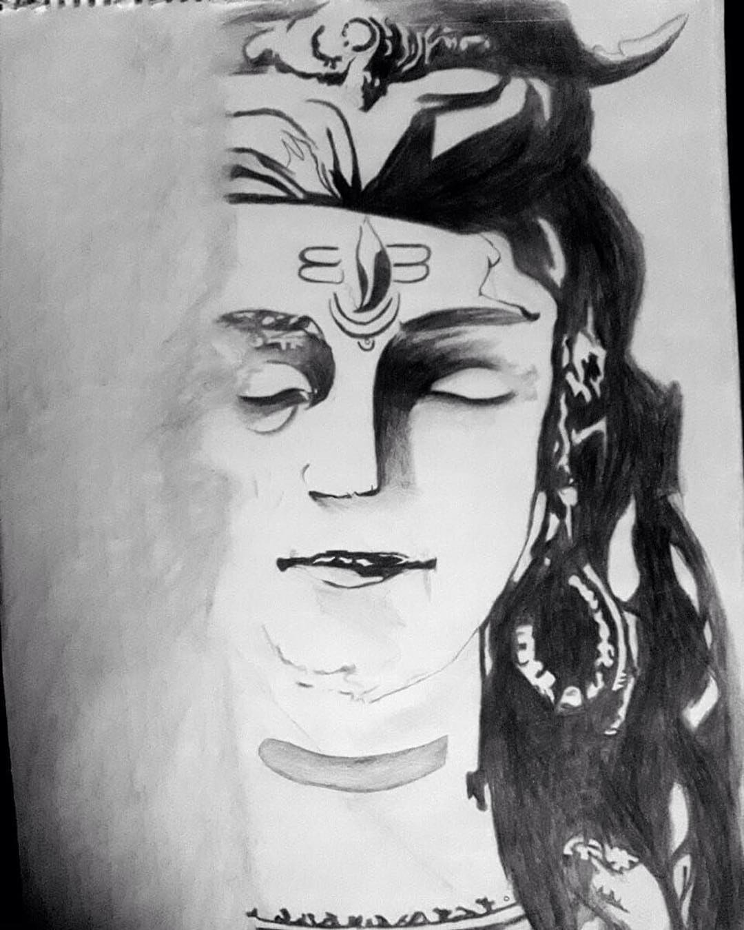 Lord Shiva Sketch By Sheetal Chavan Drawing Fine Art For Sell