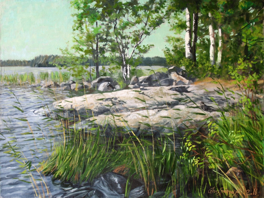Nature Landscape Painting Fine Art by Bezrodnykh Alexander