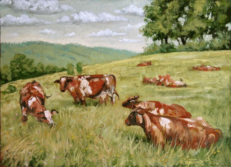 Cows FIne Art by Bezrodnykh Alexander