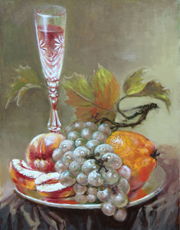Still Life with Grapes Fine Art
