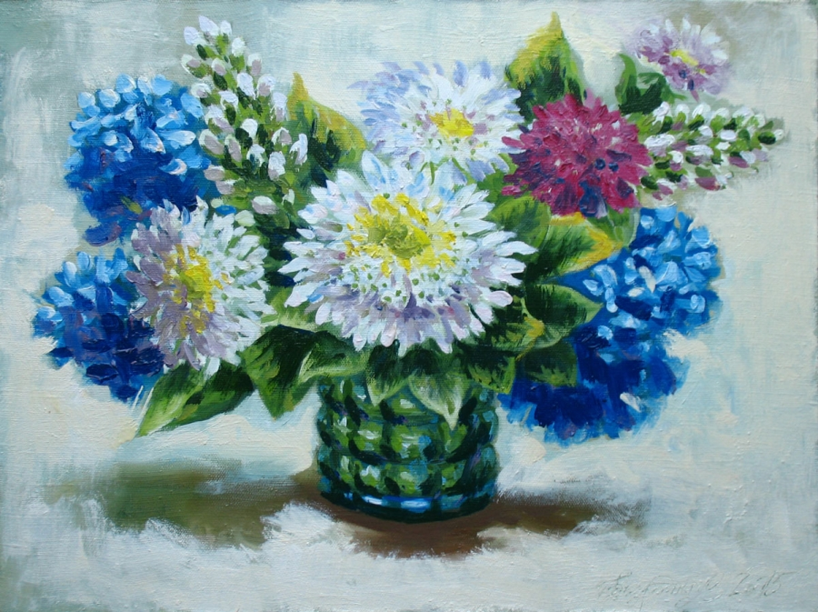 white asters Fine Art