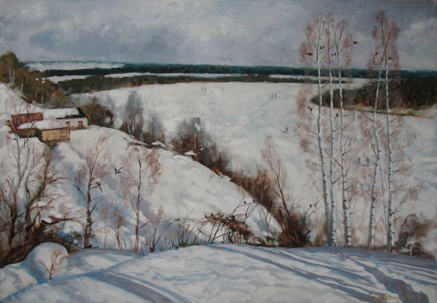 February winter  Fine Art  by Bezrodnykh Alexander