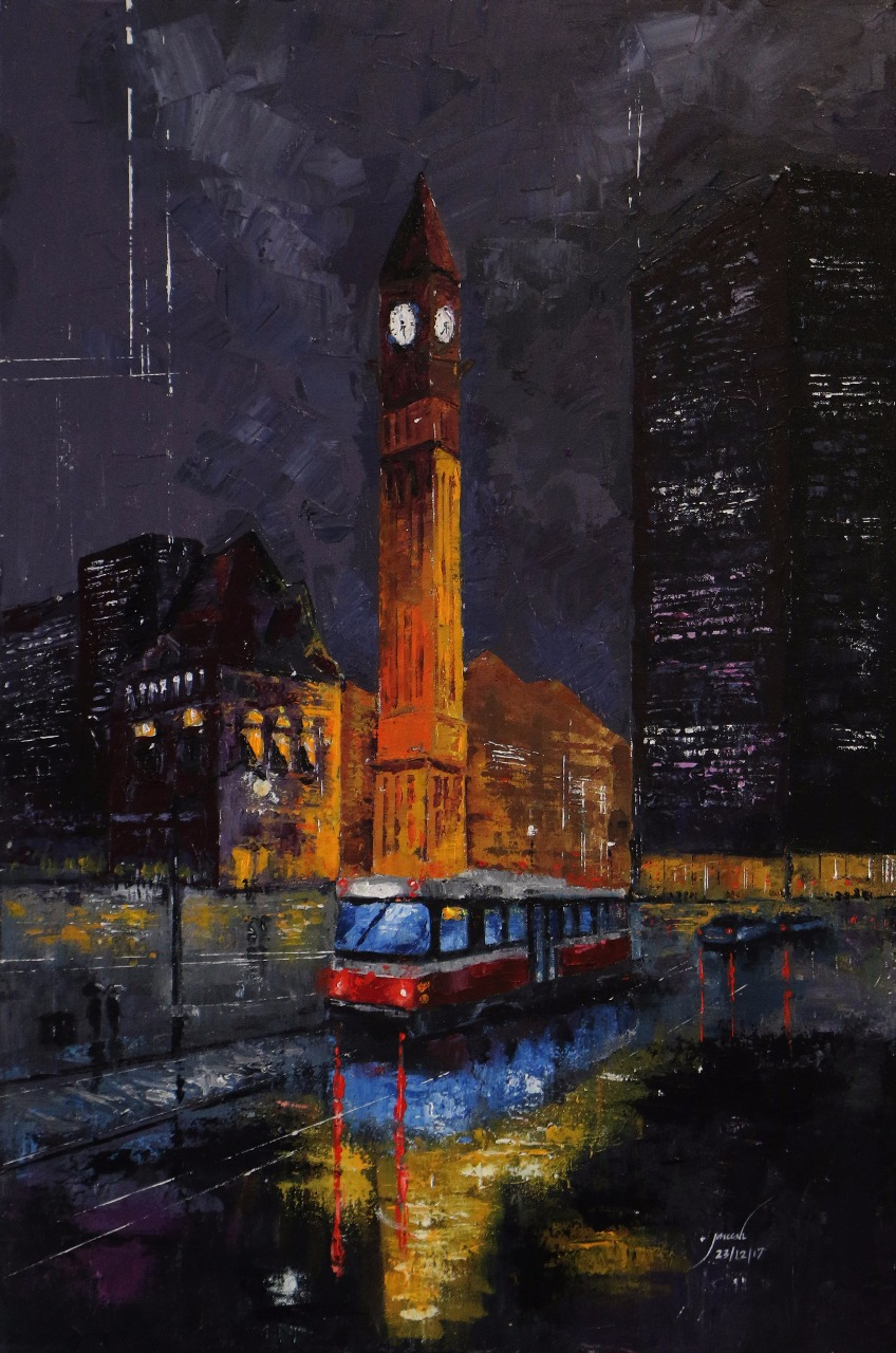 City Light Fine Art by JKJ PAINTINGS