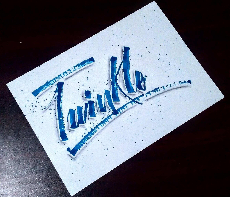 Twinkle Calligraphy Fine Art