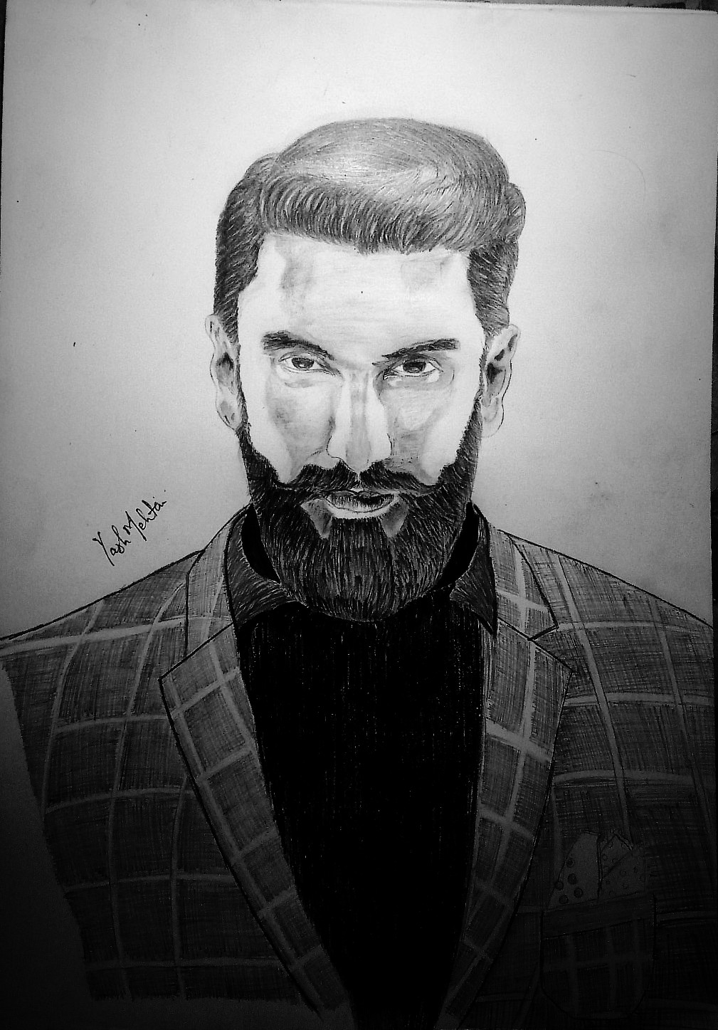 Pencil Sketch Ranveer Singh Fine Art